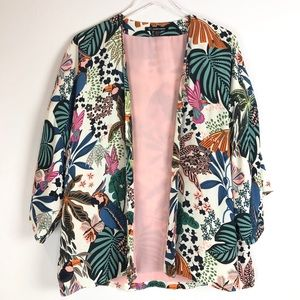 Zara | Light jacket floral birds